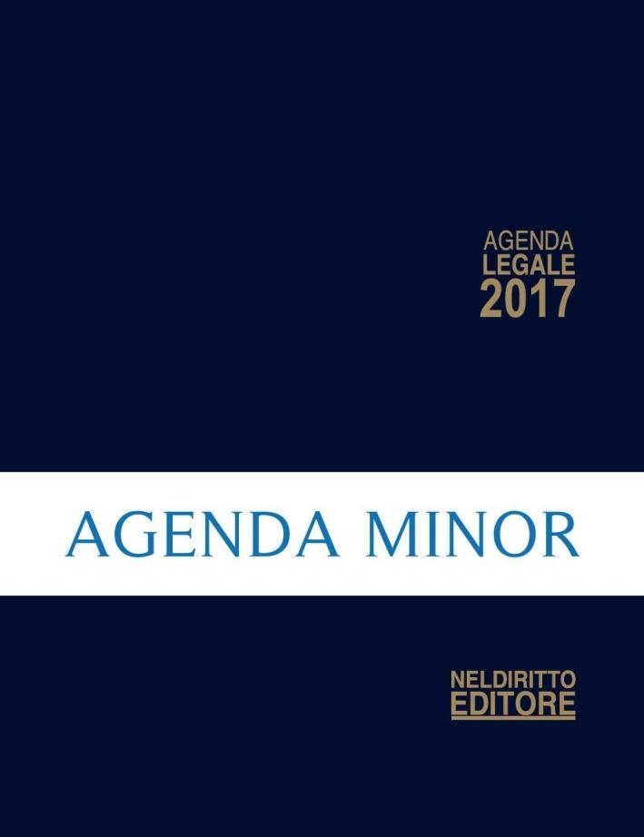 Agenda legale 2017 blu scuro. Ediz. minore.