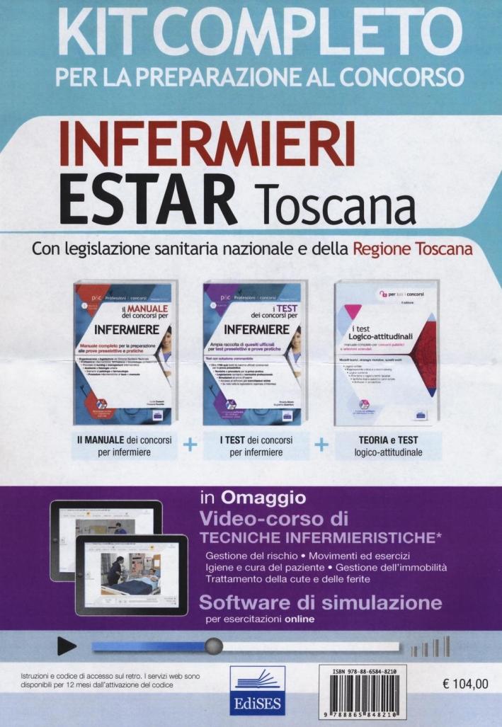 Concorso infermieri ESTAR Toscana. Kit completo per la preparazione al concorso e software di simulazione. Con e-book