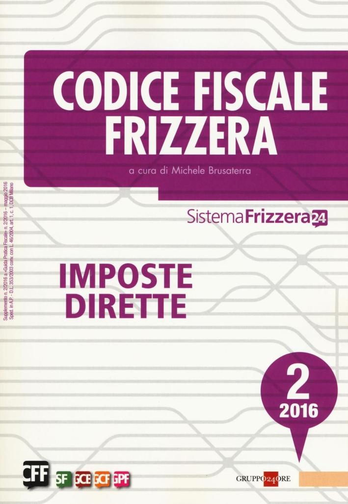 Codice Fiscale Frizzera. Imposte Dirette 2/16