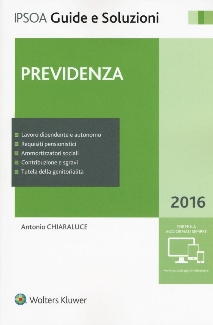 Previdenza 2016.