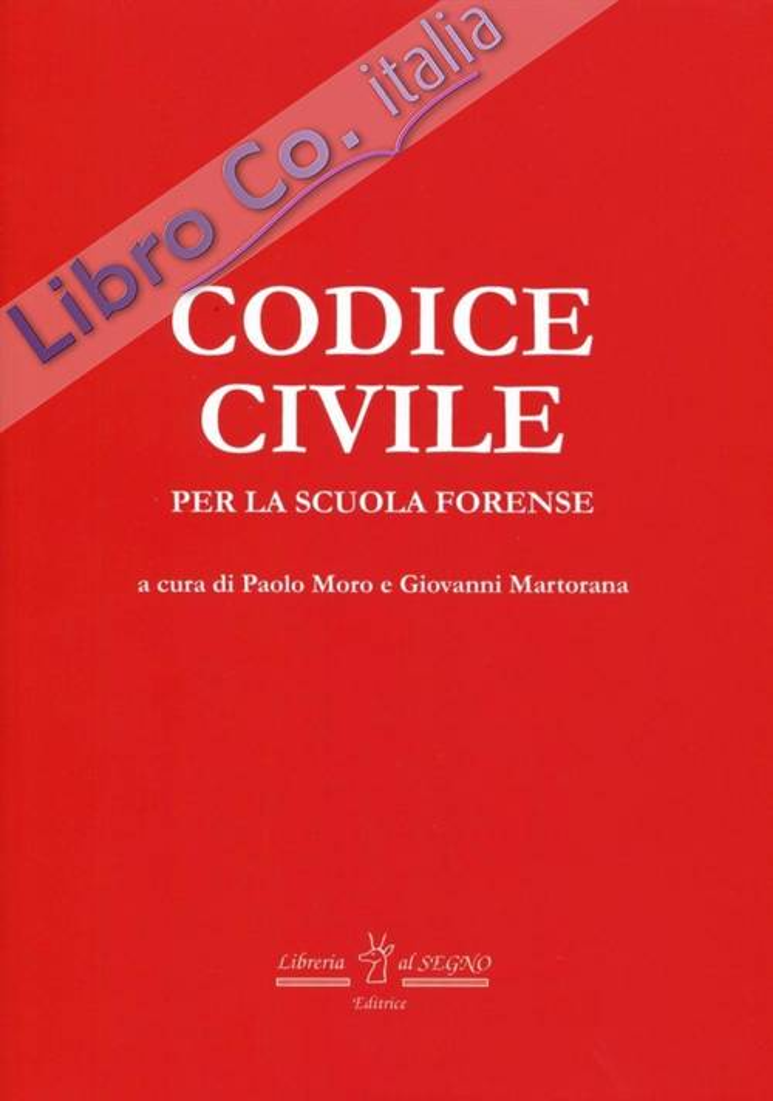 Codice civile per la scuola forense