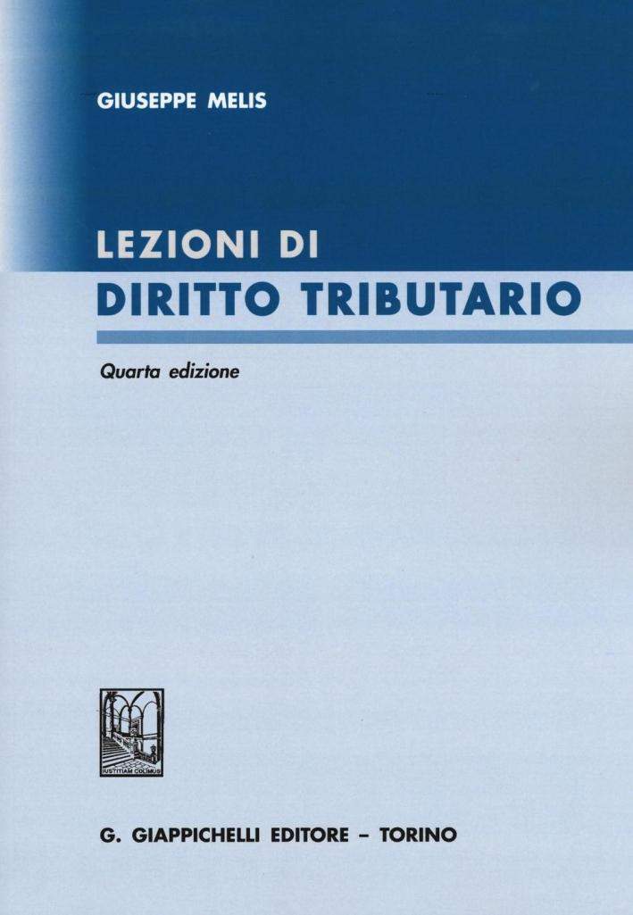 Lezioni di Diritto Tributario.
