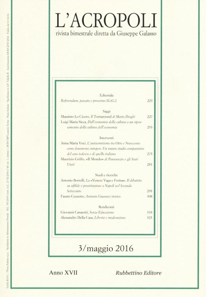 L'acropoli (2016). Vol. 3.