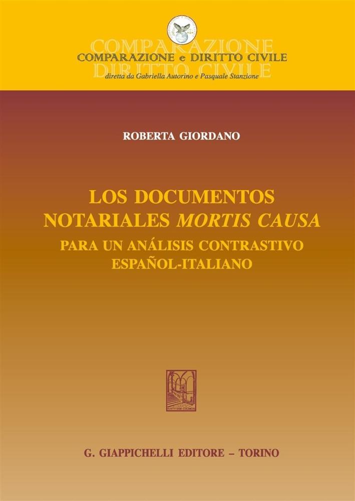 Los documentos notariales mortis causa. Para un análisis contrastivo español-italiano.
