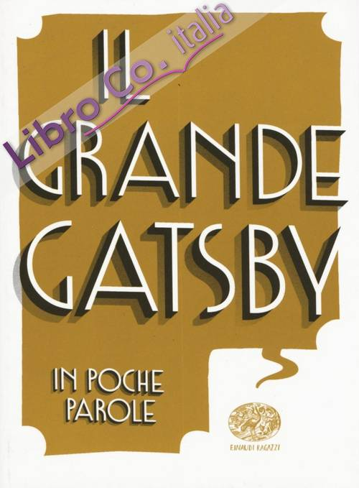 Il grande Gatsby da Francis Scott Fitzgerald.