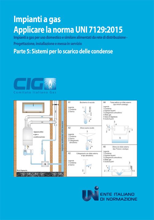 Applicare la norma UNI 7128:2015. Impianti a gas per uso domestico e similare alimentati da rete di distribuzione. Progettazione, installazione e messa in servizio. Vol. 5: Sistemi per lo scarico delle condense.