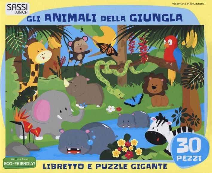 Gli animali della giungla. Libro puzzle.
