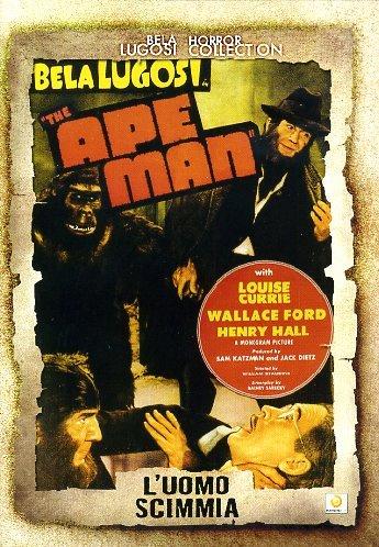L'Uomo Scimmia. The Ape Man. DVD.