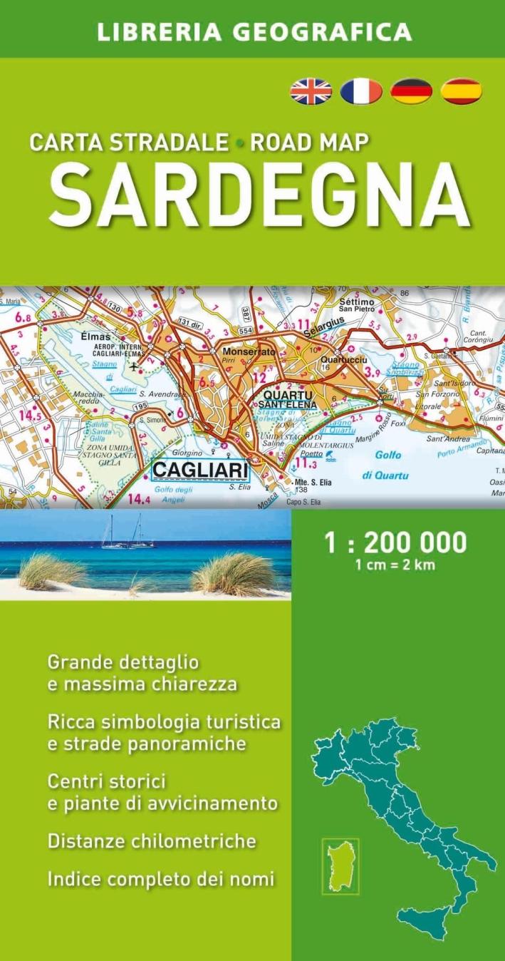 Sardegna. Carta stradale 1:200.000.