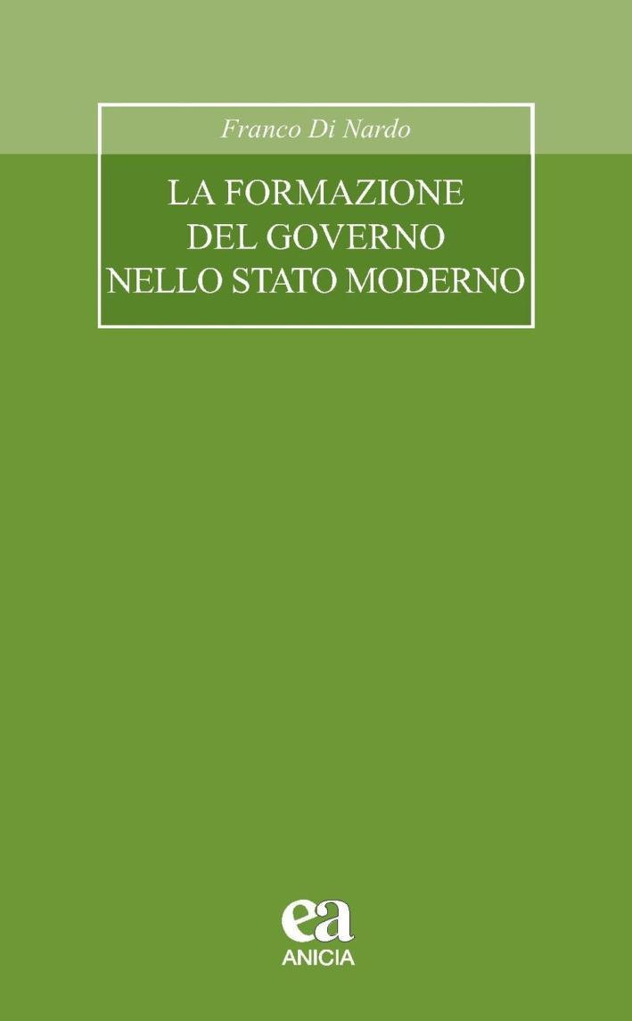 La formazione del governo nello stato moderno.