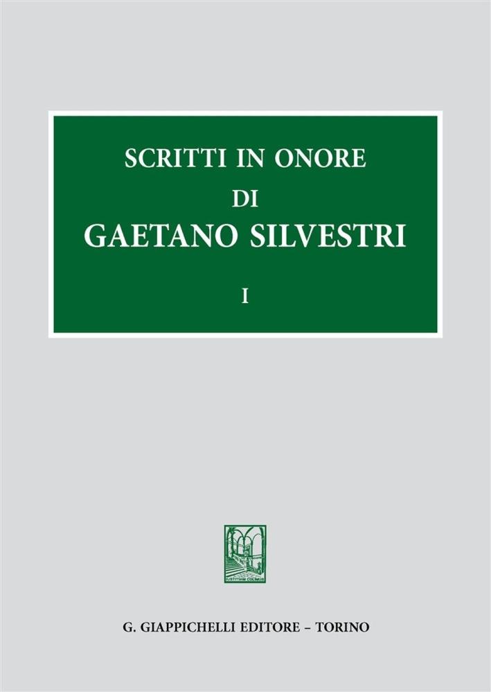 Scritti in onore di Gaetano Silvestri.