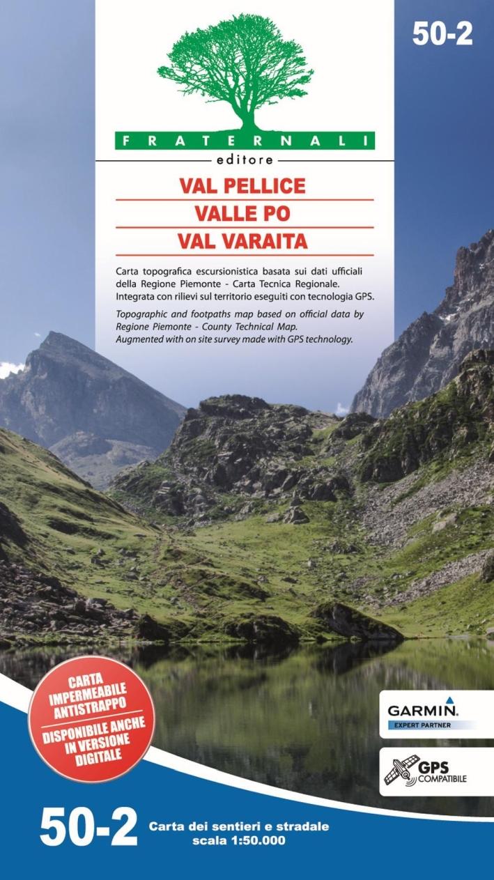 Carta N. 50.2. Val Pellice, Valle Po, Val Varaita 1:50.000