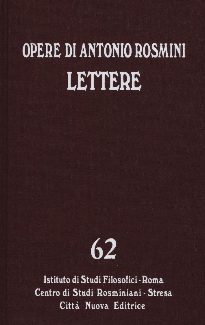 Lettere. Vol. 62. II. Novembre 1816- Dicembre 1819.