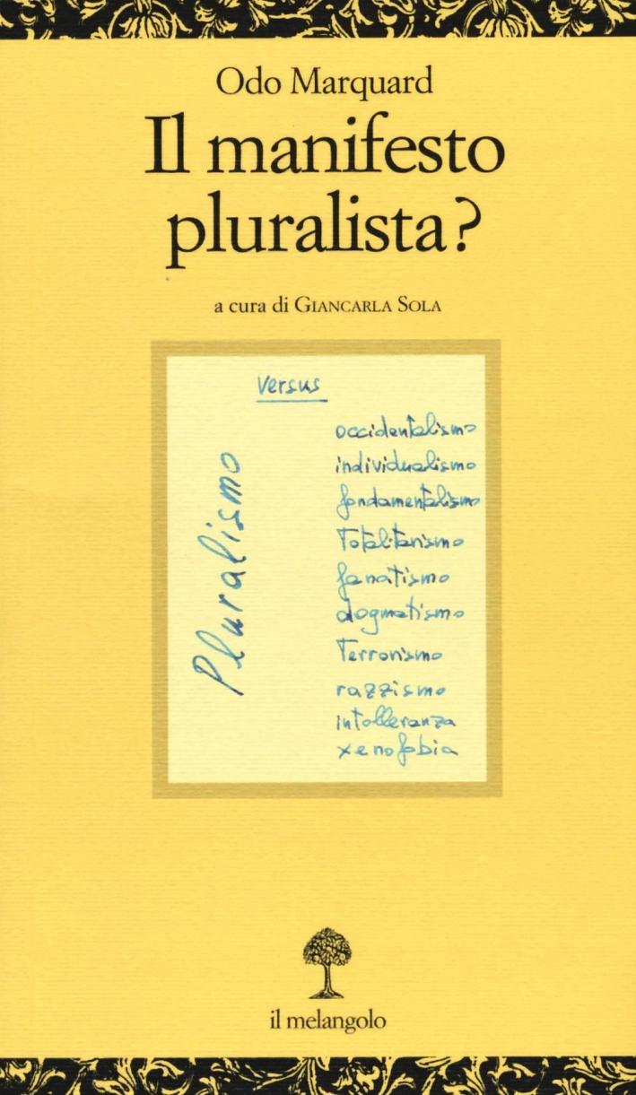 Manifesto pluralista?