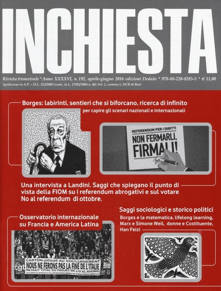 Inchiesta (2016). Vol. 192