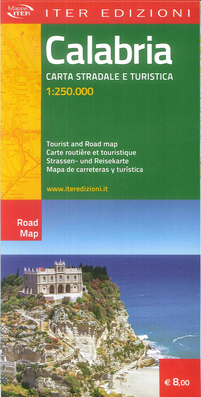 Calabria. Carta stradale e turistica 1:250.000