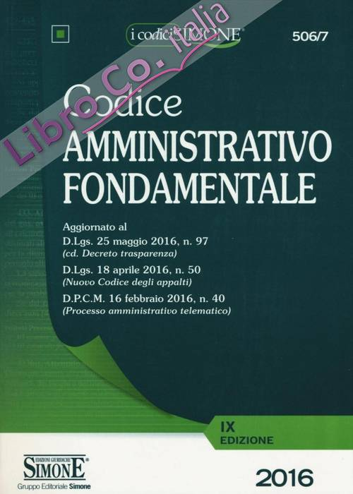 Codice amministrativo fondamentale.
