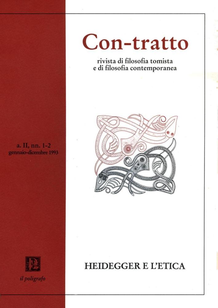 Con-tratto. Rivista di filosofia tomista e di filosofia contemporanea vol. 1-2 (1993)