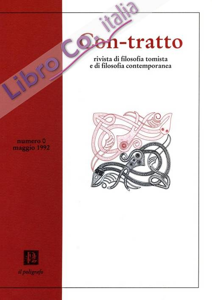 Con-tratto. Rivista di filosofia tomista e di filosofia contemporanea (1 Maggio 1992)