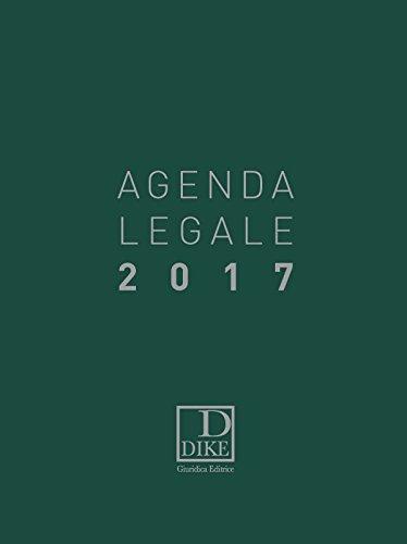 Agenda legale d'udienza 2017.