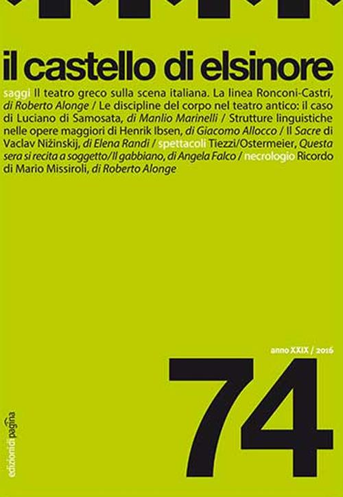 Il castello di Elsinore (2016). Vol. 74