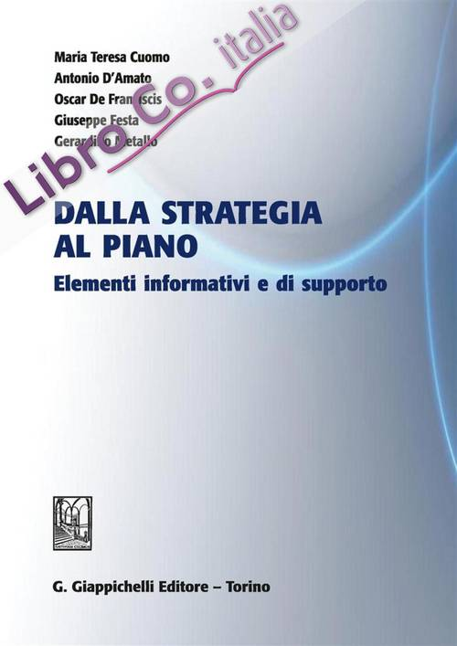 Dalla strategia al piano. Elementi informativi e di supporto
