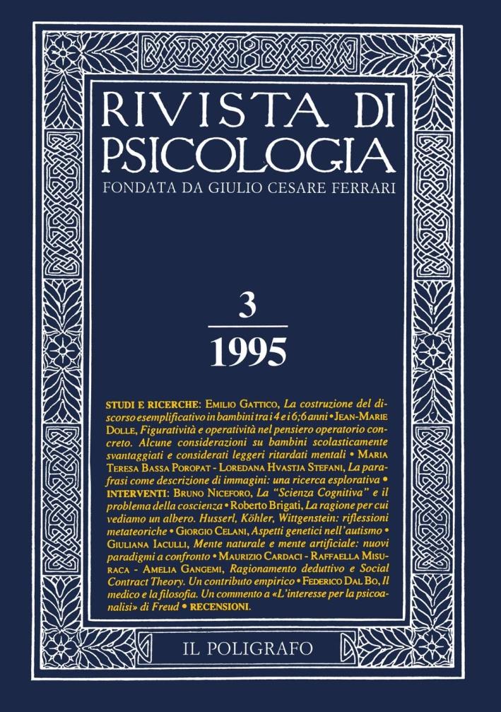 Rivista di psicologia. Vol. 3. 1995.