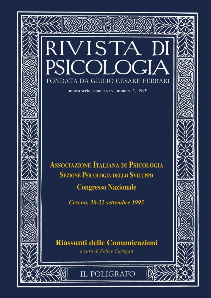 Rivista di psicologia. Vol. 2. 1995.