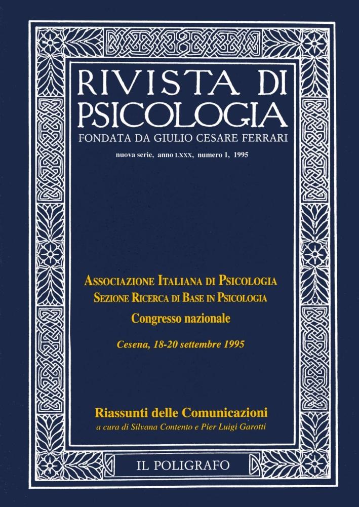 Rivista di psicologia. Vol. 1. 1995.