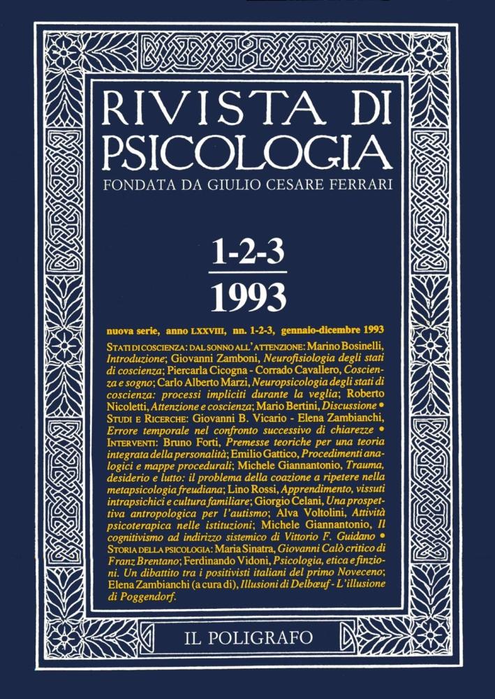 Rivista di psicologia. Vol. 1-2-3. Gennaio-Dicembre 1993