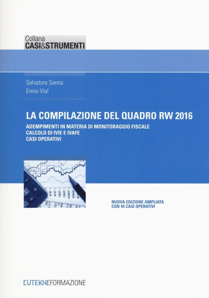 La Compilazione del Modulo Rw