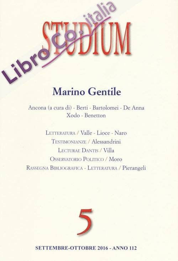 Studium (2016). Vol. 5: Marino Gentile