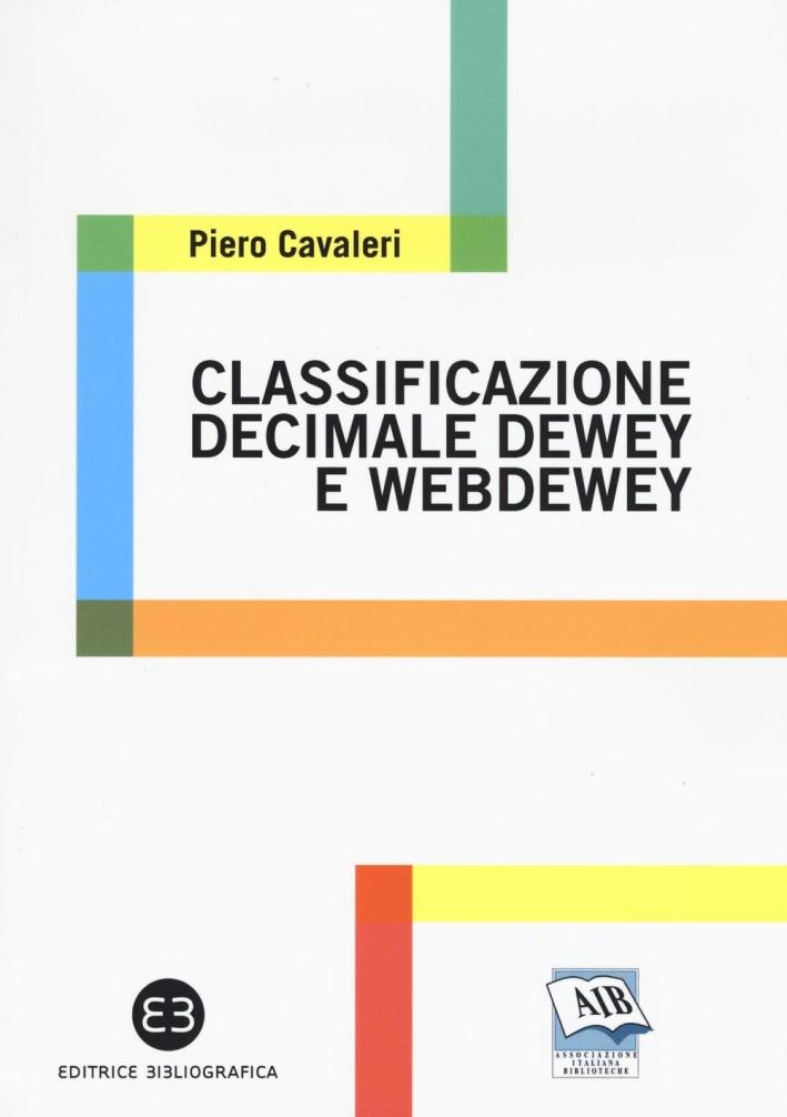 Classificazione decimale Dewey e WebDewey.