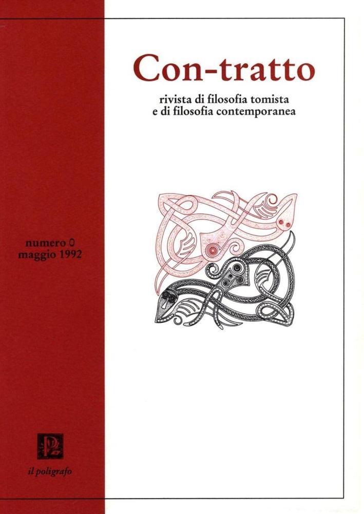 Con-tratto. Rivista di filosofia tomista e di filosofia contemporanea (1992). Vol. 1