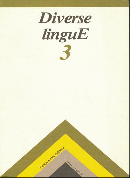 Diverse Lingue 3 - Rivista Semestrale delle Letterature Dialettali e delle Lingue Minori. Anno 2 Numero 3