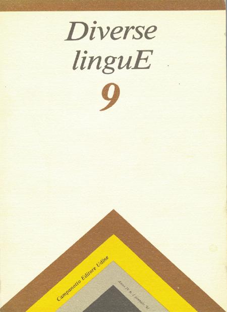 Diverse Lingue 9 - Rivista Semestrale delle Letterature Dialettali e delle Lingue Minori. Anno 4 Numero 1