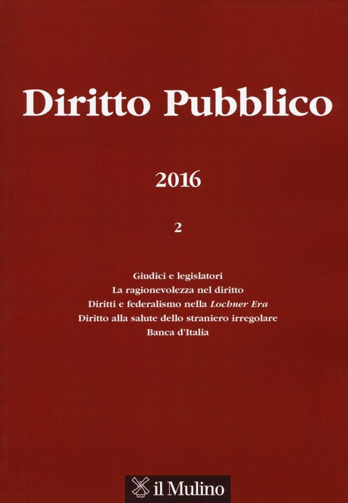 Diritto pubblico (2016). Vol. 2.