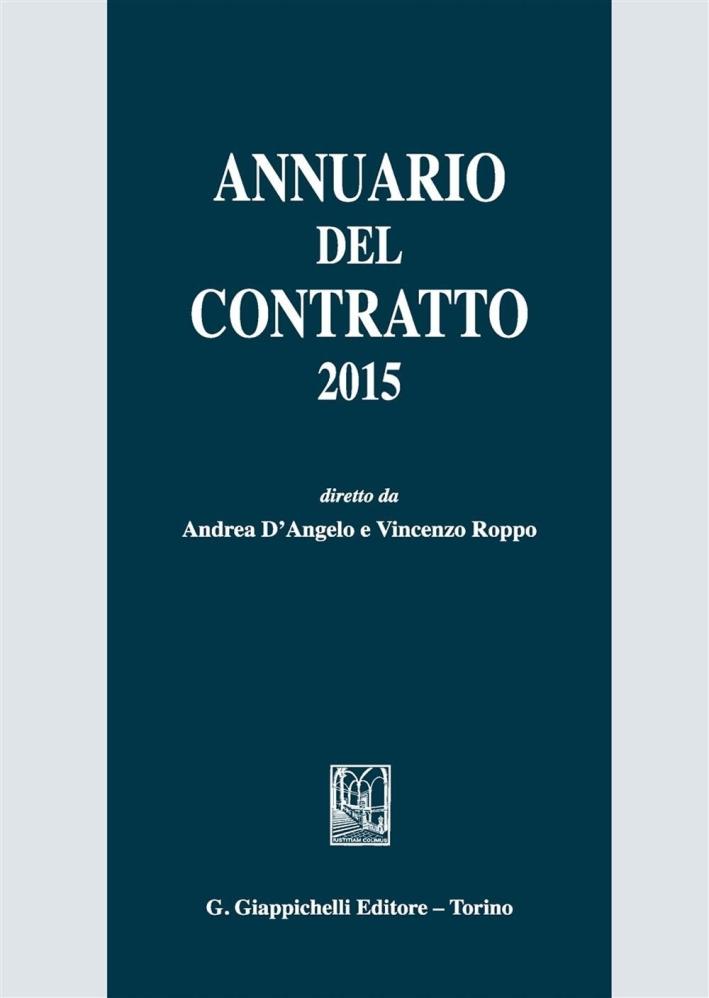 Annuario del contratto 2015.