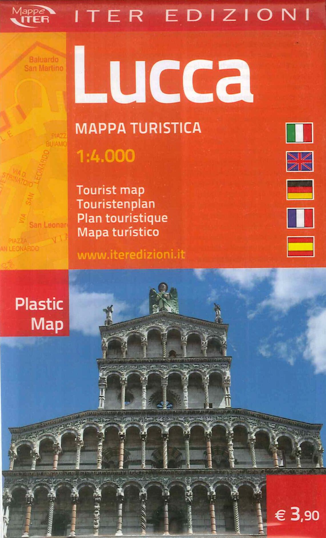 Lucca. Mappa turistica 1:4.000. Ediz. multilingue.