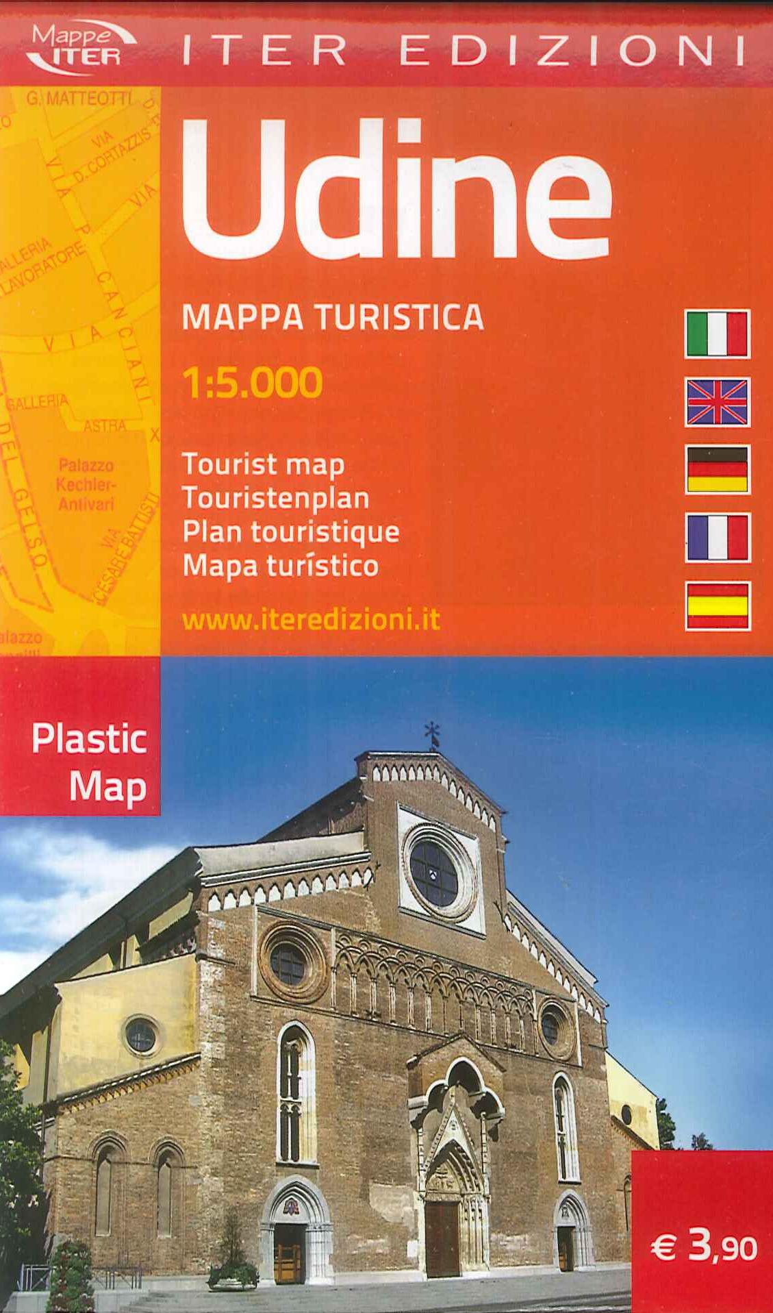 Udine. Mappa turistica 1:5.000. Ediz. multilingue.