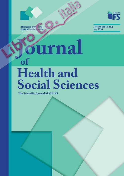Journal of health and social sciences (2016). Vol. 2: July