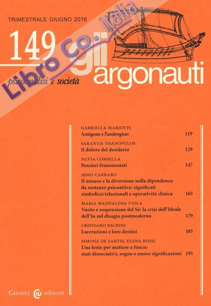 Gli argonauti (2016). Vol. 149