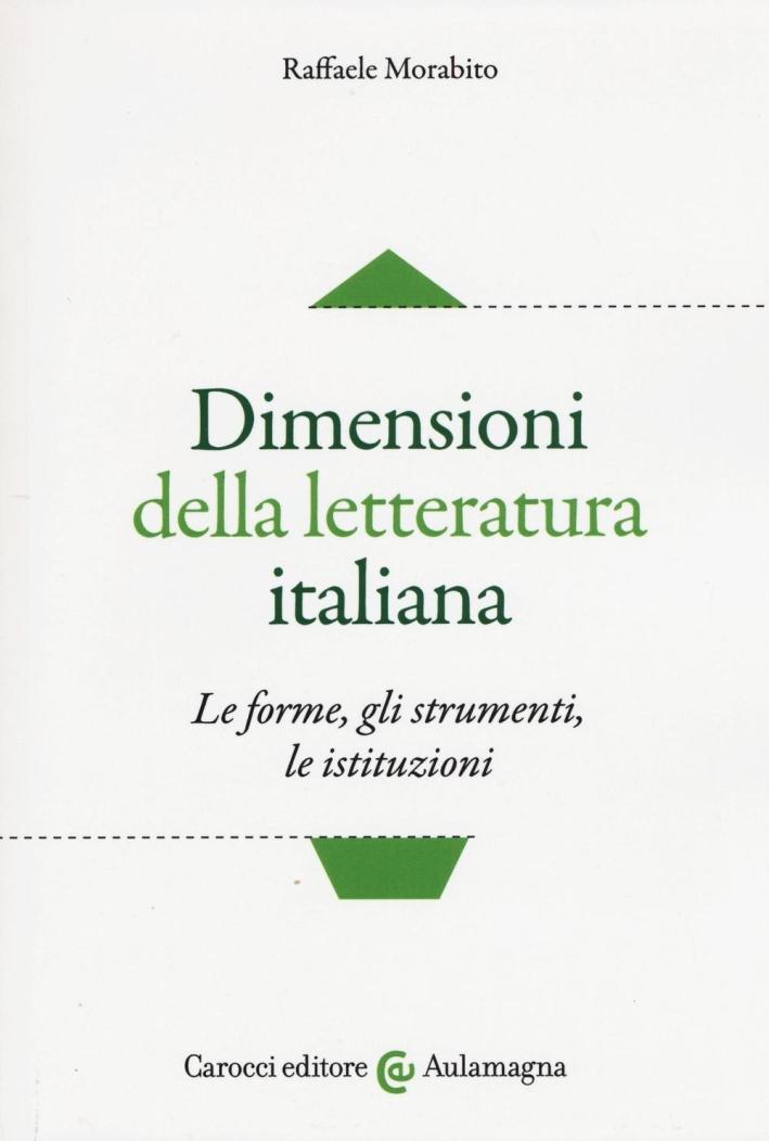 Dimensioni della letteratura italiana.