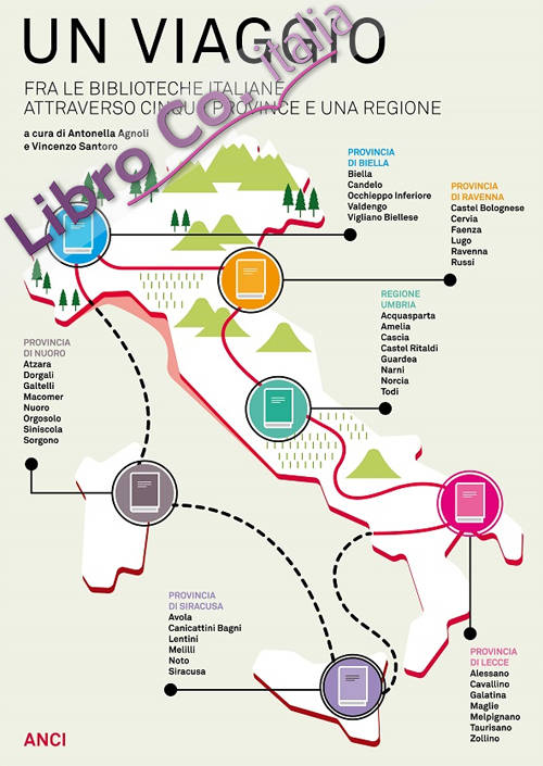 Un viaggio tra le biblioteche italiane attraverso cinque province e una regione.