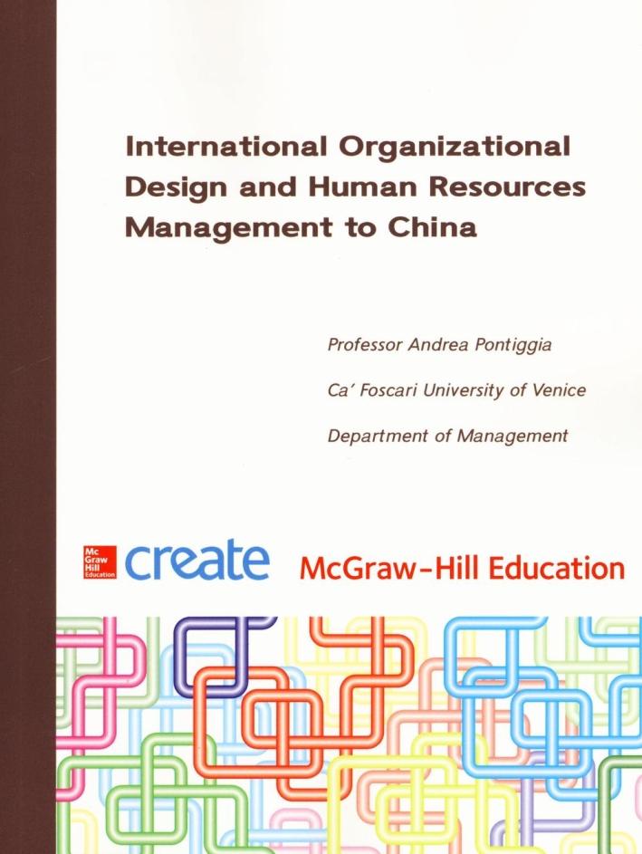 International organizational design and human resources.