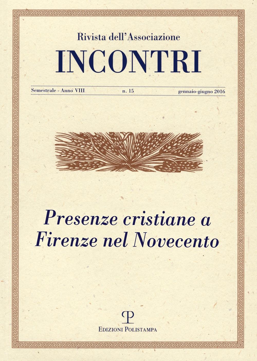 Incontri (2016). Vol. 15.