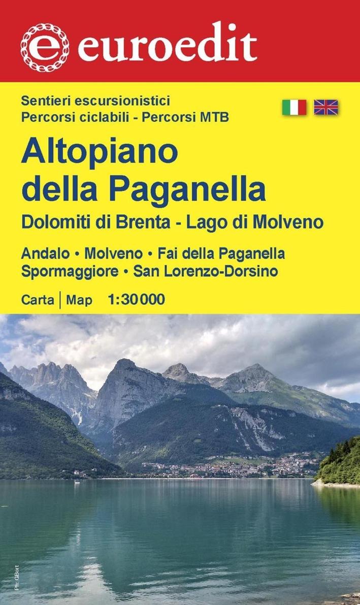 Altopiano della Paganella, Dolomiti di Brenta, lago di Molveno. Andalo, Molveno, Fai della Paganella, Spormaggiore, San Lorenzo-Dorsino 1:30.000.