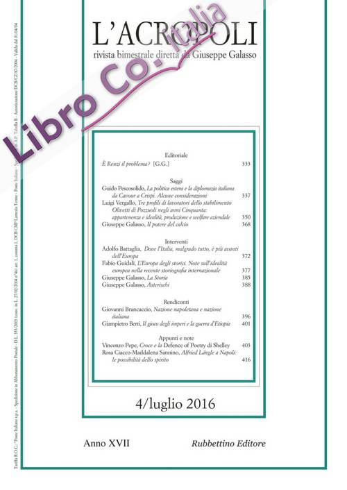 L'acropoli (2016). Vol. 4.