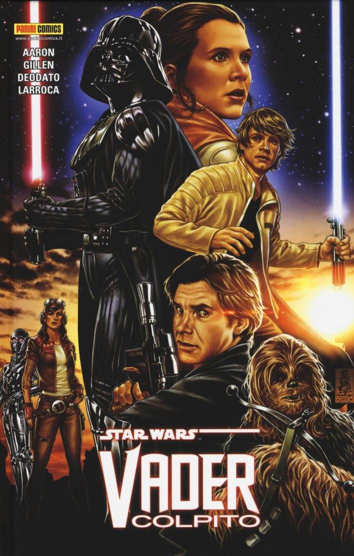 Vader colpito. Star Wars.