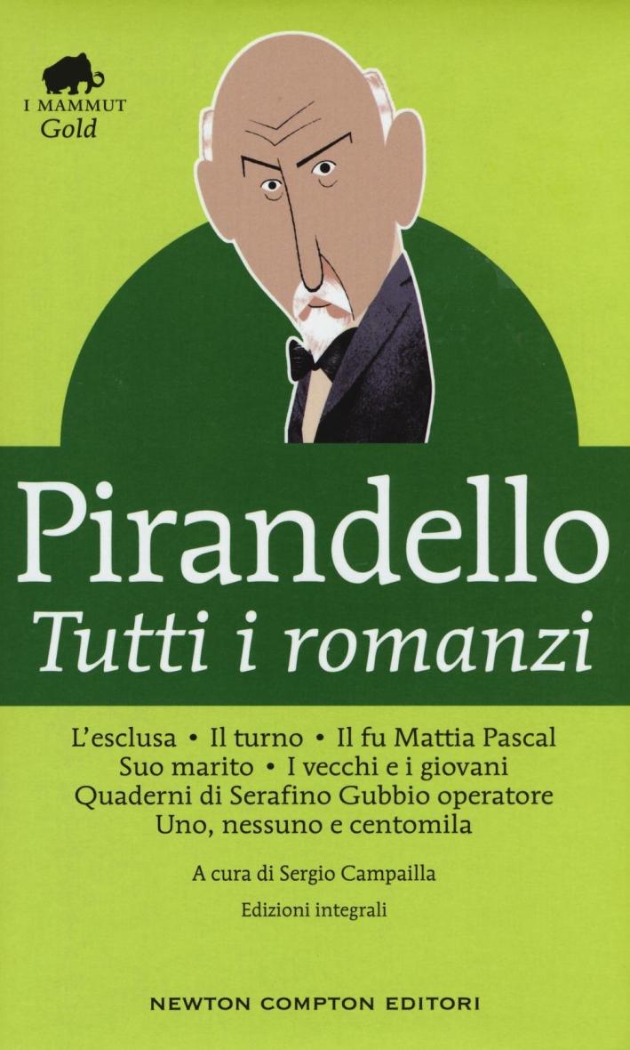 Tutti i romanzi: L'esclusaIl turnoIl fu Mattia PascalSuo maritoI vecchi e i giovaniQuaderni di Serafino Gubbio operatoreUno, nessuno e centomila.